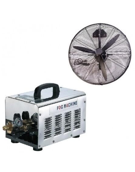 Nagy Nyomású Párásító Rendszer 4 Teraszhűtő Ventilátorral