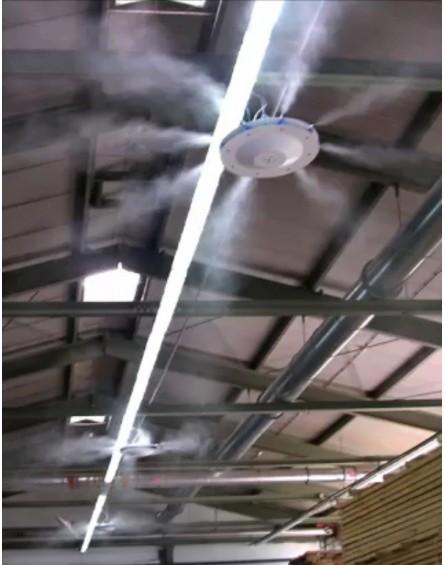 Nagy Nyomású Teraszhűtő Rendszer 2 Mennyezeti Párásító Ventilátorral