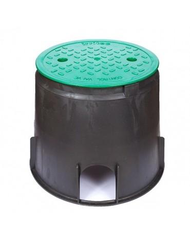 Szelepakna - Szelepdoboz Midi 22,5 cm Kör, Irritec Szelepház