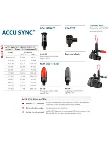 Hunter Accu-Sync ADJ Állítható Nyomásszabályzó 1,4-7 Bár