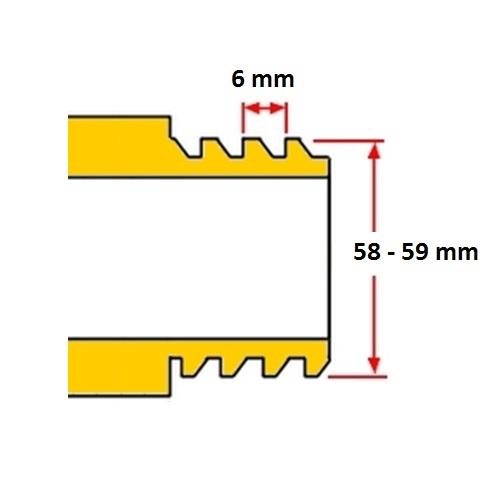 S60x6 mm IBC tartály menet méretek